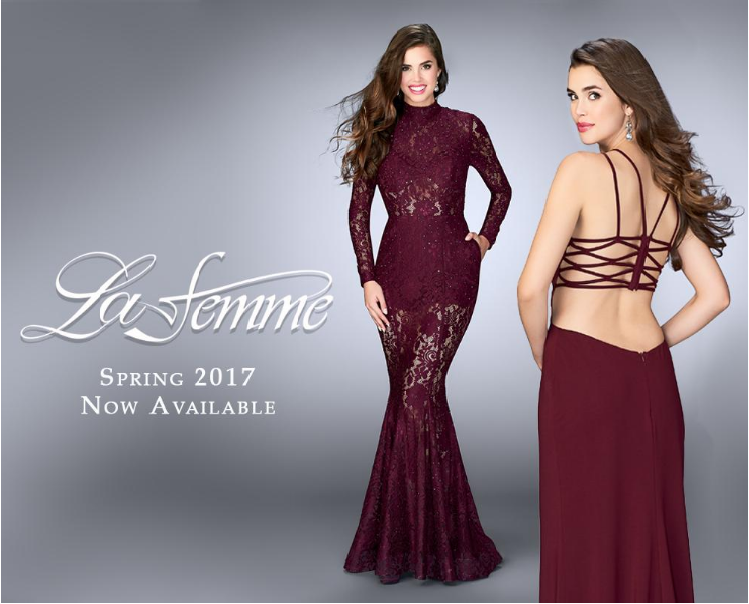 c322bef8f3 La Femme dresses are from a group of designers who deliver unique and  elegant formal dresses. Their glamorous evening dress division dresses many  red carpet ...
